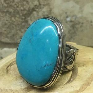 Silpada Tumbled Turquoise Ring sz 8 NWOT